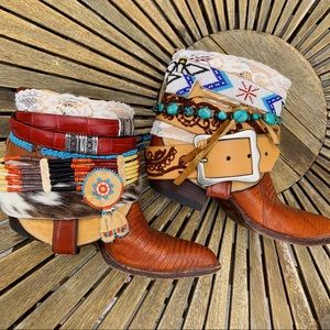 Vintage boho western gypsy one of a kind boots